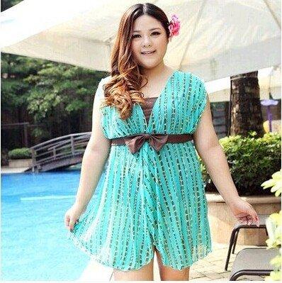 XL-übergewichtige Menschen kleiden einteilige Bikini-Badeanzug 7XL2367-5