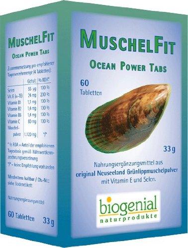 Biogenial Grünlippmuschelpulver Muschel Fit, 60 Tabletten