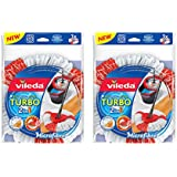 Vileda EasyWring and Clean Turbo 2-in-1 Microfibre Mop Refill Head, Pack of 2