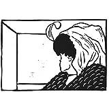 Sehtest Alte oder junge Frau? (27x18 cm) - Original Linoldruck mit optischer Illusion (Kippbild)