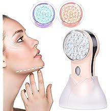 Máquina Facial Rejuvenecimiento Reafirmante LED 2 Modos para Anti arrugas acné,antimanchas,Antienvejecimiento y