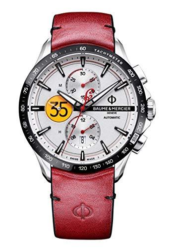 Baume & Mercier Clifton Club Burt Munroe Tribute Limited Edition/orologio uomo/quadrante argentato/cassa acciaio/cinturino pelle/ref. M0A10404