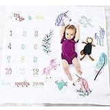 GUT® Baby monatliche Meilenstein Decke Neugeborenen Foto Hintergrund Requisiten, Baby Swaddling Decke für Fotografie-große 40