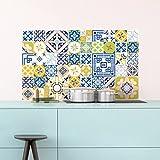 Ambiance-Live 60Pegatinas Adhesivos carrelages | Adhesivo Adhesivo Azulejos–Mosaico Azulejos de Pared de baño y Cocina | Azulejos Adhesiva–MULTICOULEUR–10x 10cm–60Piezas
