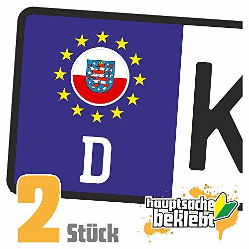 Thüringen Kennzeichen Aufkleber Sticker Nummernschild Land Country Nation