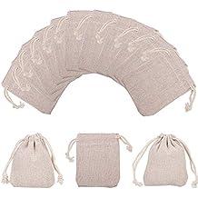 NBEADS 10 bolsas pequeñas de algodón con cordón para joyería, bolsas de embalaje, ...