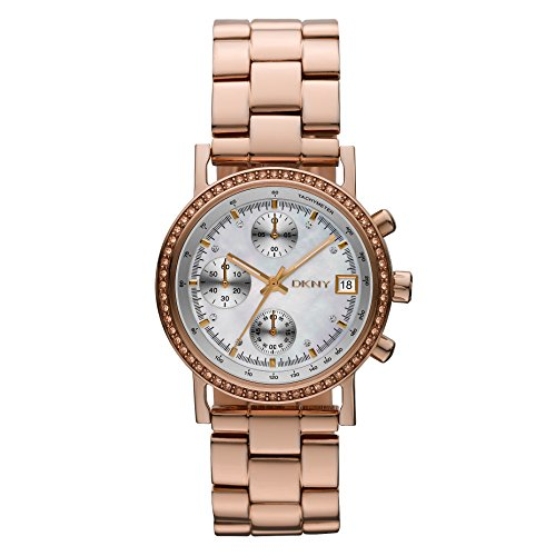 DKNY Chronograph Mother of Pearl Rose Gold-tone Ladies Watch NY8358