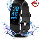 MorePro Fitness Armband Wasserdichter, Farbdisplay Fitness Tracker mit Herzfrequenz-Blutdruckmessgerät,Vibrationsalarm Anruf SMS Beachten mit iOS Android