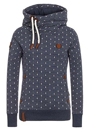 Hey~Yo Winter Damen Pullover Langarm Jacke Lange Top Sweatshirt Pullover Hohem Hals Tops Jumper (44-46, Dunkelgrau)