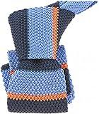 Clj Charles Le Jeune - Cravate Tricot. Bleu Quebec