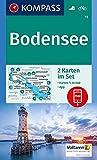 KOMPASS Wanderkarte Bodensee: 2 Wanderkarten 1:35000 im Set inklusive Karte zur offline Verwendung in der KOMPASS-App. Fahrradfahren. (KOMPASS-Wanderkarten, Band 11) -