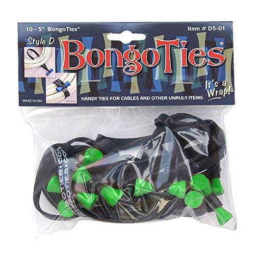 BongoTies D5-01-g Style D Bongo Krawatte, Baumfrosch, Grün, 12,7 cm, 10 Stück