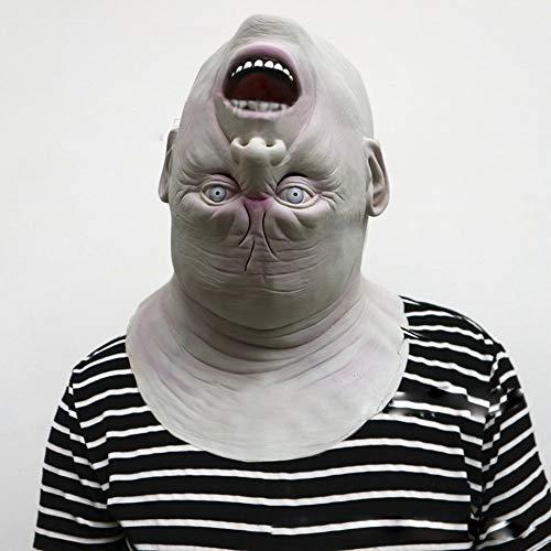 Scary Kostüm Alien - WSNGD Neue Halloween Erwachsene Maske Zombie Maske Latex Bloody Scary Alien Teufel Vollgesichtsmaske Kostüm Party Cosplay Prop DA