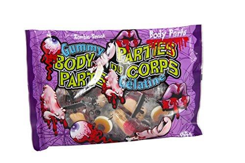 Halloween Körperteile Body Parts 150g Fruchtgummi Süßigkeit einzeln verpackt mit verschiedenen - Der Junge Myers Halloween Michael 2