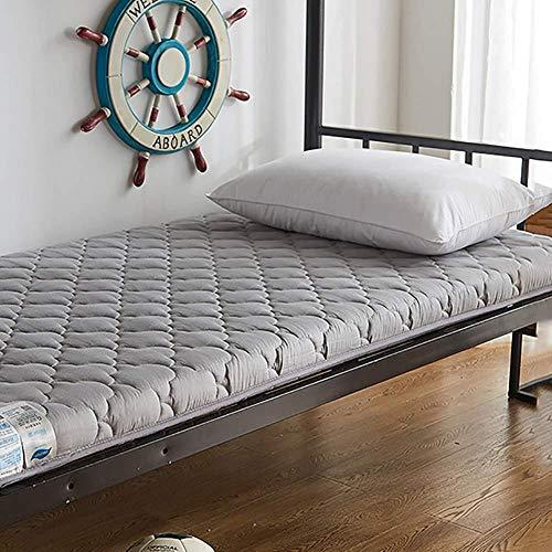 WANGXIAO Tatami Bodenmatte,Verdicken Studenten Schlafsaal Matratze Japanischen Isomatte Futon Cover Komfort Feuchtigkeitsbeständig Tragbar,Gray-90x200cm(35x79inch)