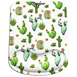 Supgear Tappetino da Mouse con Poggiapolsi al Gel, Mouse Pad Ergonomico e Superficie Liscio, Base in Gomma Antiscivolo per PC, Notebook e Laptop (Cactus)