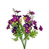 Seidene, künstliche Blumen 28Köpfe künstliches Gänseblümchen Blume für Hochzeit Haus-Dekor Rose violett