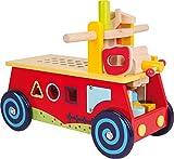 small foot 1595 Motorikwagen 'Werkbank' aus Holz, mit allerlei Zubehör, Spielspaß und motorisches Lernen, ab 2 Jahre