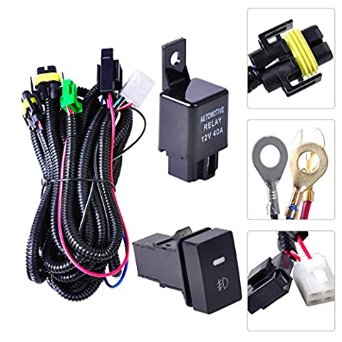 beler H11 Nebel Licht Lampe Kabelbaum Steckdosen Wire Switch Kits
