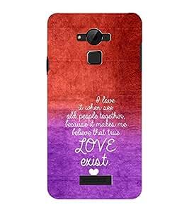 EPICCASE Love exist Mobile Back Case Cover For CoolPad Dazen Note 3 Lite (Designer Case)