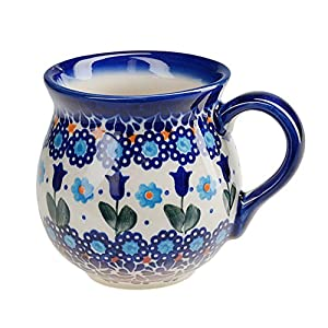 BCV Classic Boleslawiec, Polish Pottery Hand Painted Ceramic Mug, Barrel