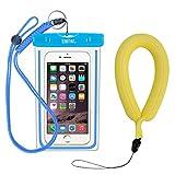 EOTW IPX8 Wasserdichte Hülle mit Kamera Schwimmer Handschlaufe, Sehr Gut für Wassersport, Tauchen, Schnorcheln, Schwimmen und Strand (Blau)