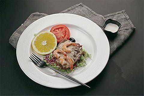 Hôtel assiettes vaisselle plaque alimentaire Pâtes Steak de plaques en céramique innovant Plaque Snack Plaque blanc 20.5cm