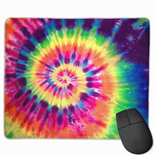 Colorful Tie Dye Non-Slip Rubber Mouse Mat Mouse Pad for Desktops, Computer, PC and Laptops 9.8 X 11.8 inch (25x30cm) Tie-dye-slip