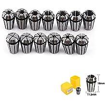 TopDirect 13pcs ER11 1-7mm Ressort Collet Set Kit de Pince de Serrage pour CNC Machine de Gravure & Outil de Meulage