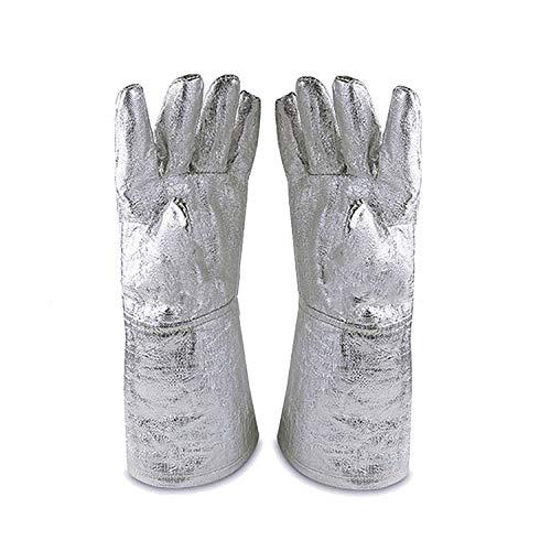 guanti ignifughi 932 ° -835.6 ° C Guanti ignifughi a isolamento termico in lamina di alluminio