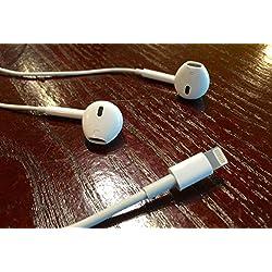 Genuinos del 100% lightning auriculares de Apple para el iPhone 7 con micrófono, EarPods con conector lightning MMTN2ZM / A - blanco - embalaje original