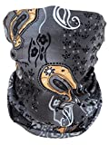 Scaldacollo tubolare, foulard, sciarpa multifunzione Multicolore Grau Muster