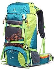 9c5f68a9bf GKPLY Zaino da Alpinismo in Nylon Impermeabile di Grande capienza Zaino da  Viaggio Outdoor Zaino da
