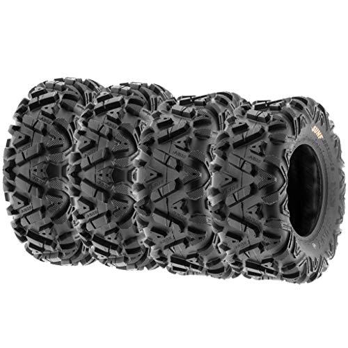 SunF 25x8-12 & 25x10-12 ATV UTV Quad Reifen Tyres A033 6 PR, [Voller Satz von 4] - Und Felge Anhänger-reifen