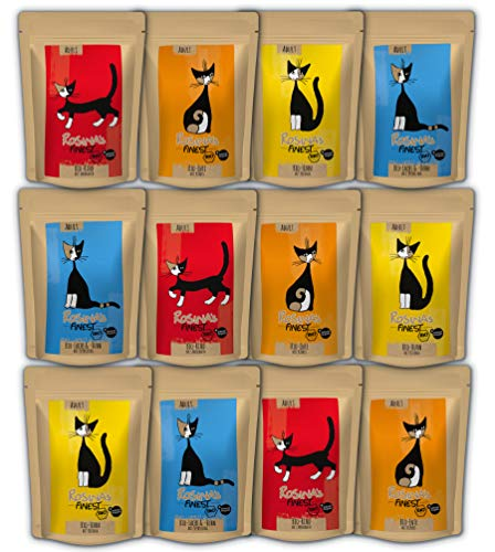 Rosina's Finest Mischpaket Ernesto Bio Katzenfutter 3 x 4 Sorten 85 g Pouches