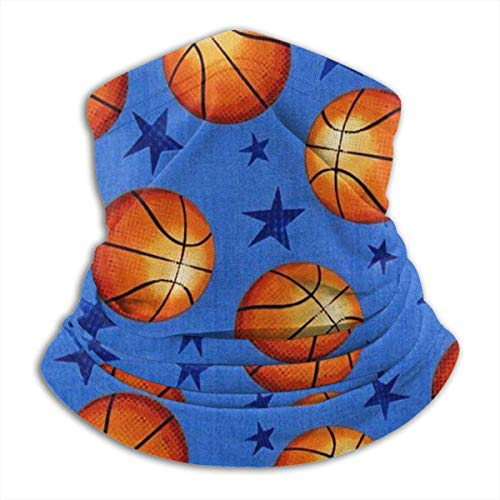Haloxa Star And Basketball Neck Warmer Gaiter Windproof Mask Fleece- Soft Comfortable Excellent Elasticity And No Static -