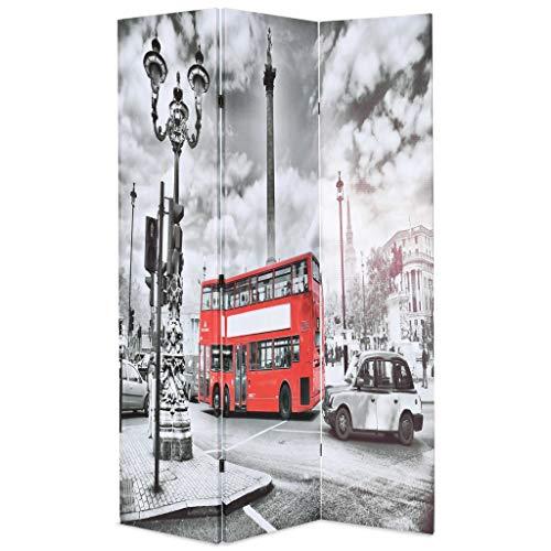 vidaXL Raumteiler klappbar 120x180cm London Bus Paravent Trennwand Sichtschutz