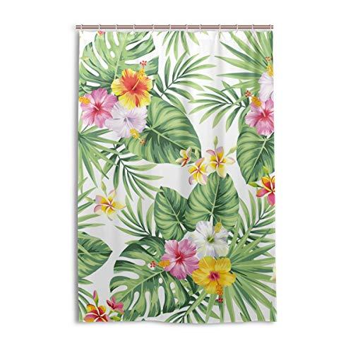 XiangHeFu Tenda da Doccia con Ganci 48 x 72 Pollici Fiore Foglia di Palma Hawaiana (Impermeabile 100{4a000d0fde8adce9806a324219fe87e6145e2cffb4c62ba9b08e13cdb6e7877b}) per Donna Uomo Bagno Decorazioni per la casa
