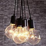 KMYX Sechs Köpfe E27 Kleine Pendelleuchte Vintage Edison-birne DIY Industrielle Kronleuchter 6-lichter Loft Deckenleuchten für Restaurant Bar Cafe Schlafzimmer Küche Wohnzimmer