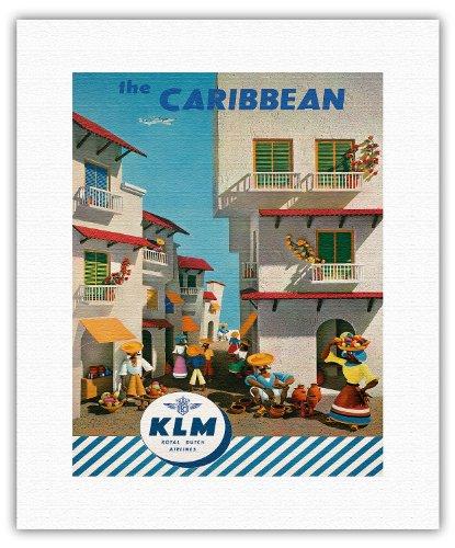the-caribbean-royal-dutch-airlines-klm-vintage-airline-travel-poster-by-j-f-van-der-leeuw-c1960s-fin