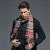 El otoño y el invierno cálido hombres Plaid Bufanda Bufanda de cachemir puro engrosamiento