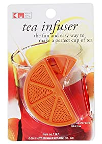KM Green Herbal Tea Bag Infuser Strainer, Color: Orange