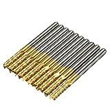 ChaRLes Db-M6 10 Stücke 3,175Mm Titanium Coated Carbide Schaftfräser Graviert Bits Für Cnc Rotary Grate