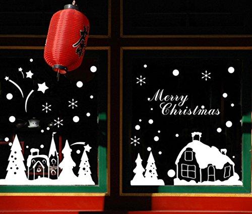 tefamore-noel-decoration-de-fenetre-stickers-muraux-noel-flocons-de-neige-ville