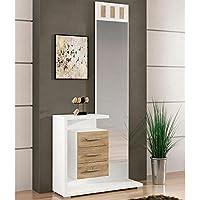 LIQUIDATODO ® - Mueble de recibidor moderno y barato en color blanco/cambrian - prisma