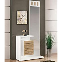 LIQUIDATODO ® - Mueble de recibidor Moderno Color Blanco/Cambrian - Prisma