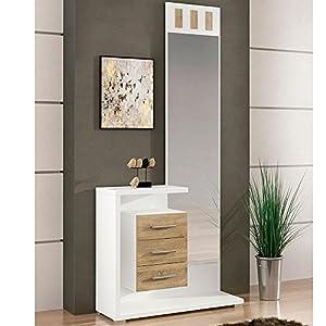 recibidores: LIQUIDATODO ® - Mueble de recibidor Moderno Color Blanco/Cambrian - Prisma
