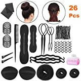 Haare Frisuren Set Zubehör styling Set,Haar Styling Design, Haar Modellierung Tool Kit, Hair Styling Tools mit Haar Clip, Hair Styling Accessories-26 Arten Haare Frisuren Tool für DIY