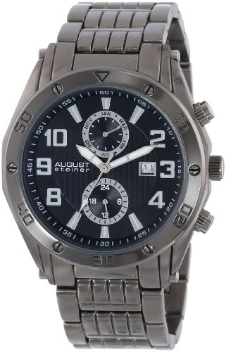 August steiner Herren-Armbanduhr Man AS8070BK Analog Quarz