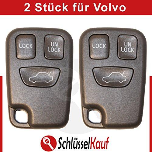 2 Stück VOLVO Autoschlüssel 3 Tasten Gehäuse S40 V40 S70 V70 C70 Fernbedienung Neu